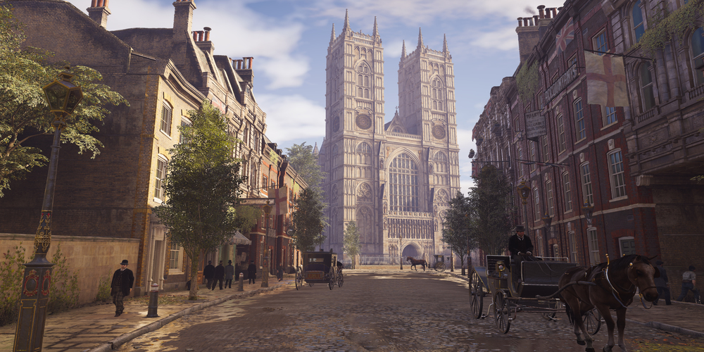 The final version of Westminster Abbey in 'Syndicate' (Photo courtesy of Ubisoft)