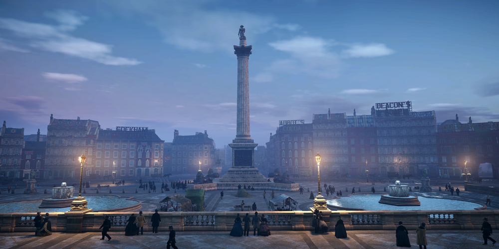 "The final version of Trafalgar Square in ""Assassin's Creed: Syndicate"" (Photo courtesy of Ubisoft)"
