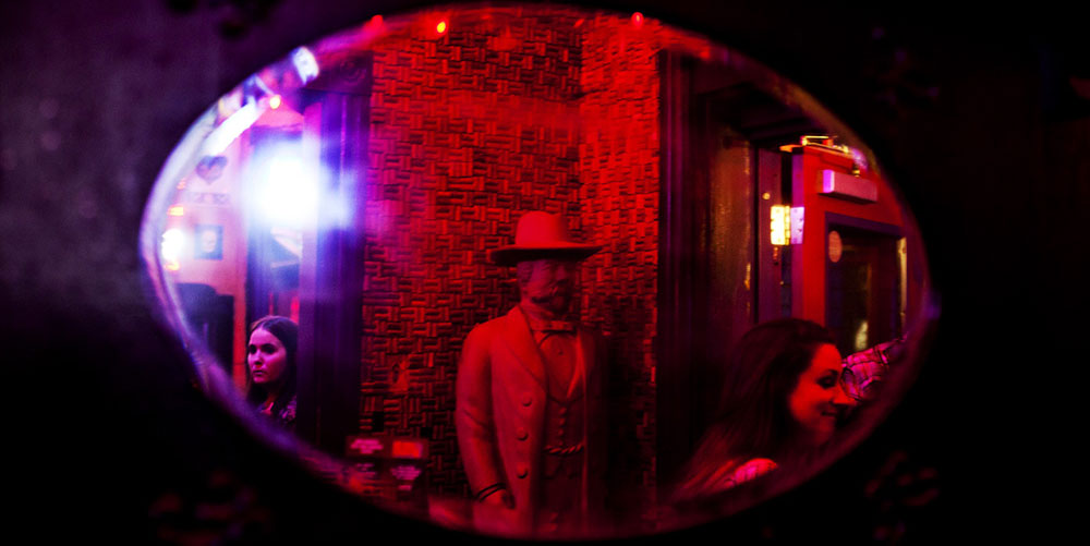 Decor in The Red Door Saloon.