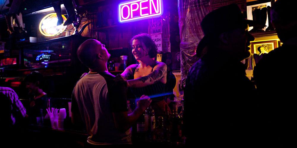 Late night bar in Nashville.