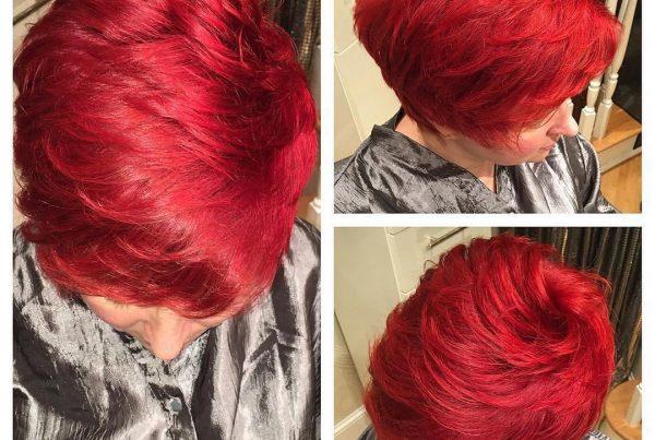 red hair color salon boston