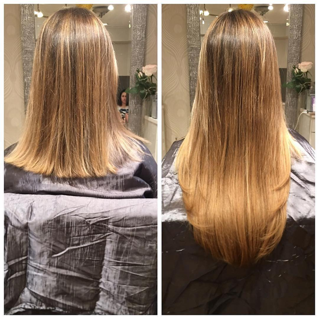 extensions before and after boston salon
