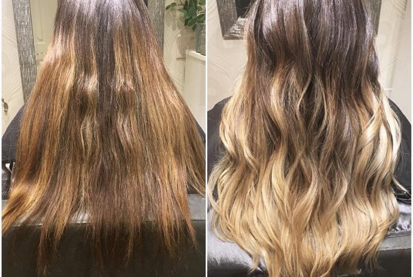 balayage before and after goldwell