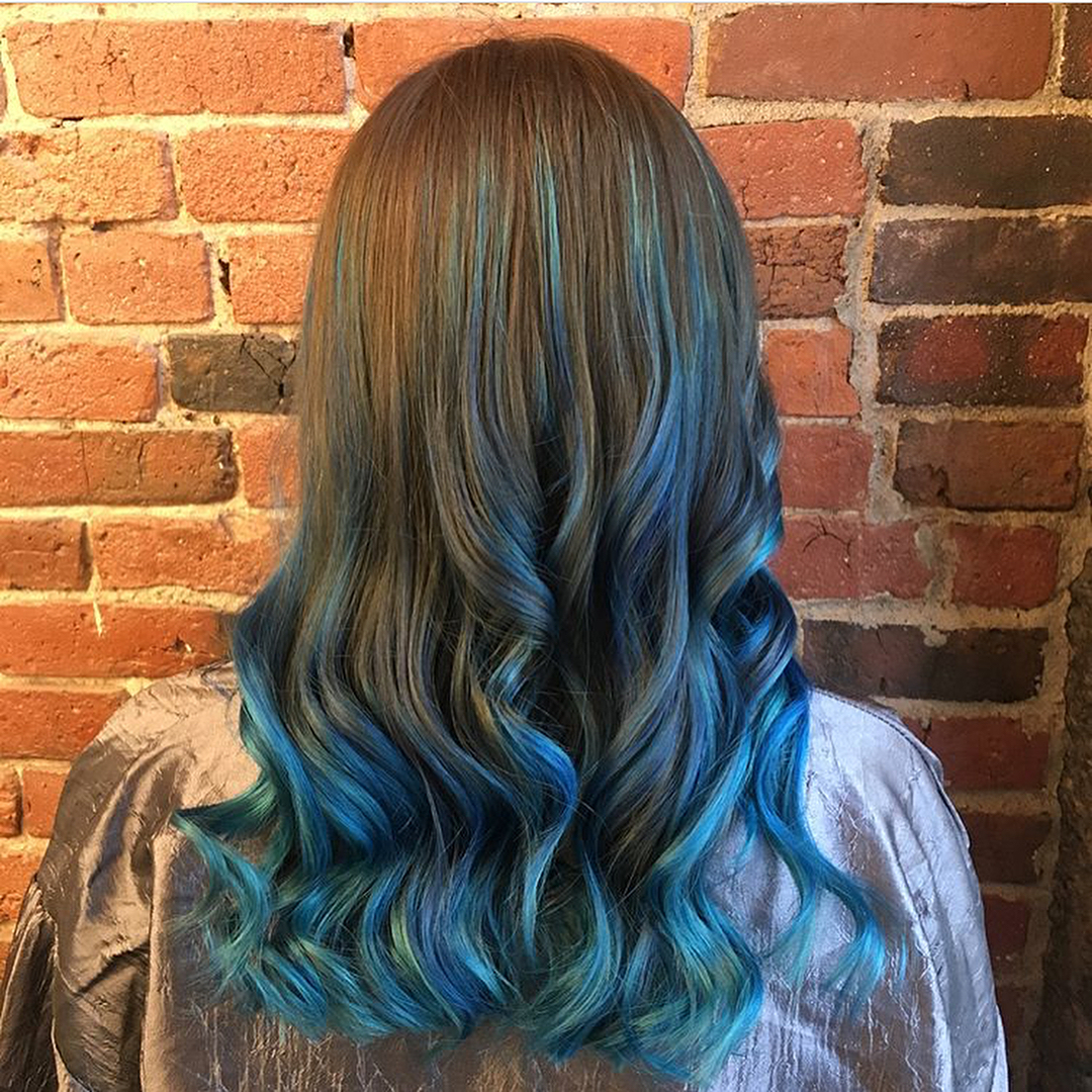 blue hair color boston salon 1