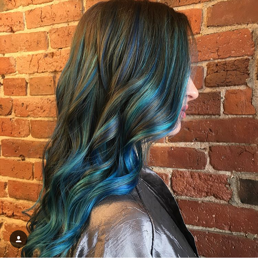 blue hair color boston salon 0