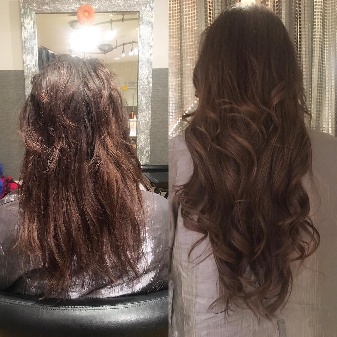 hair extensions before and after no damage