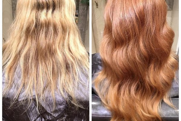 hair extensions peachy blonde