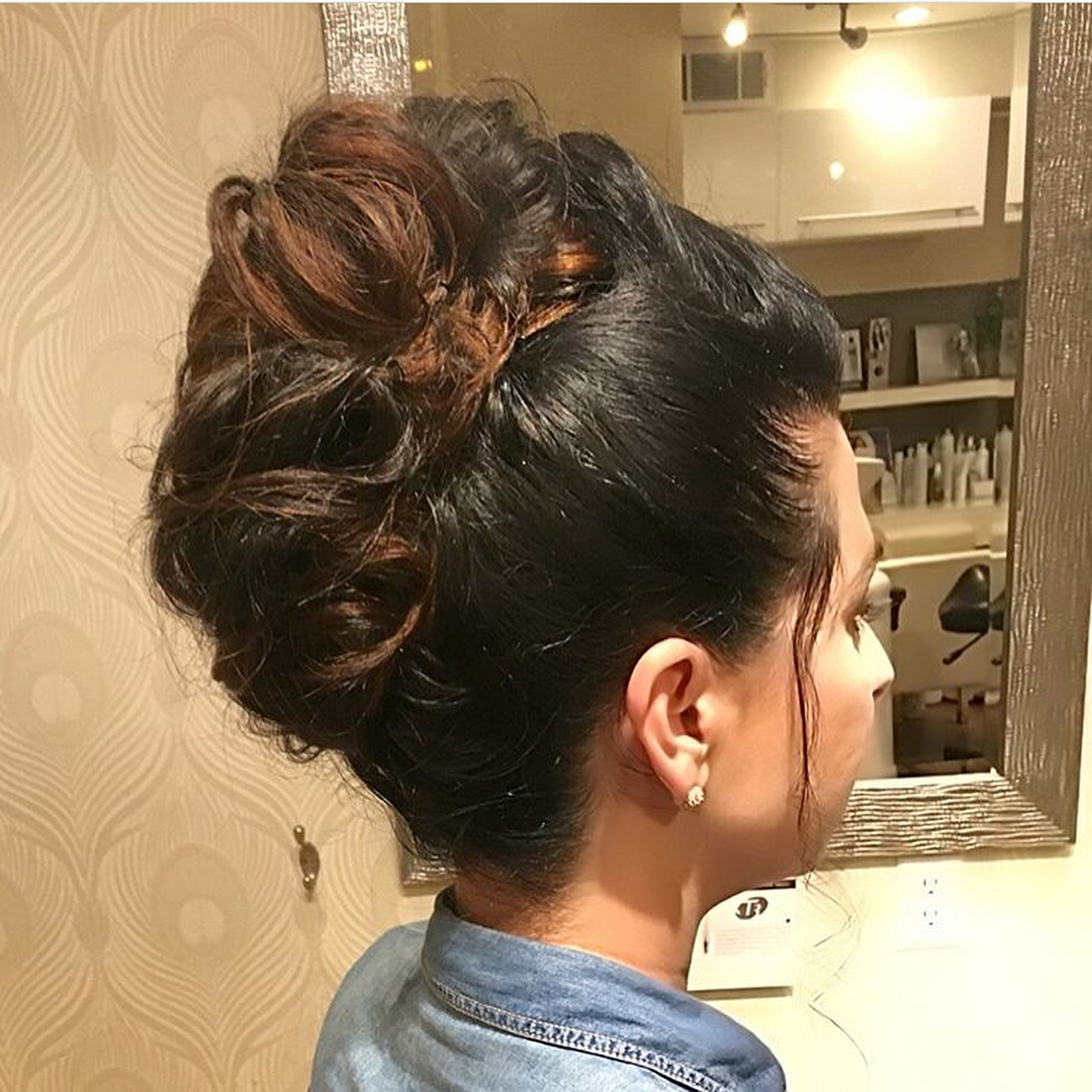 updo hair style wedding boston 1