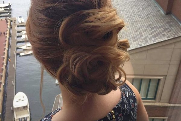 updo hair style wedding boston 3