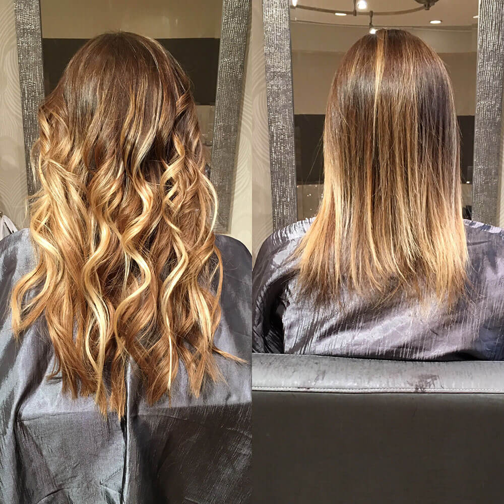hair extensions before and after boston salon
