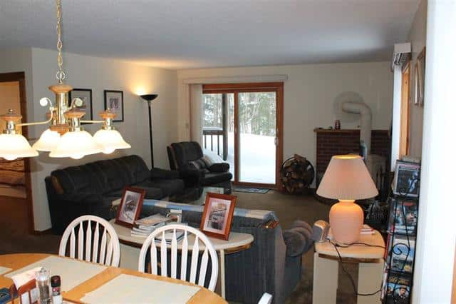 Living dining area 10 Notchview #4, Lincoln, NH 03251 Alpine Lakes Real Estate