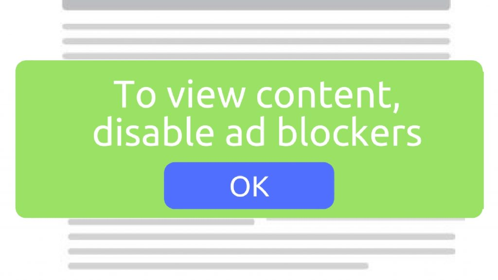 disable ad blocking software