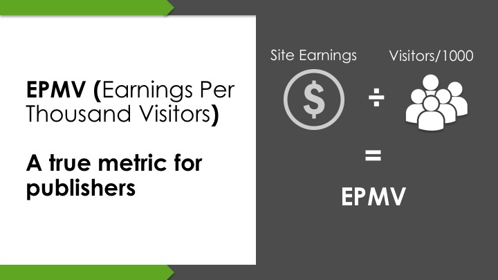 epmv to measure adsense revenue