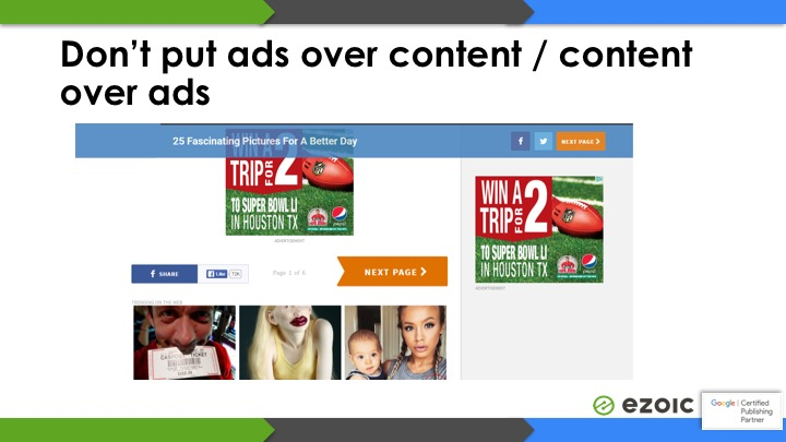 ads that violate adsense policy