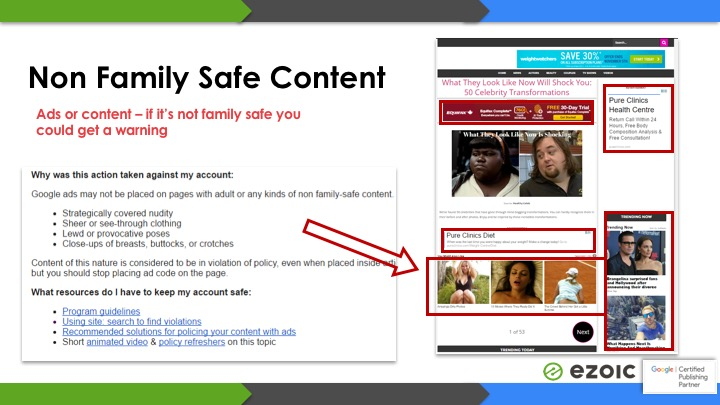 not family safe content banned in adsense