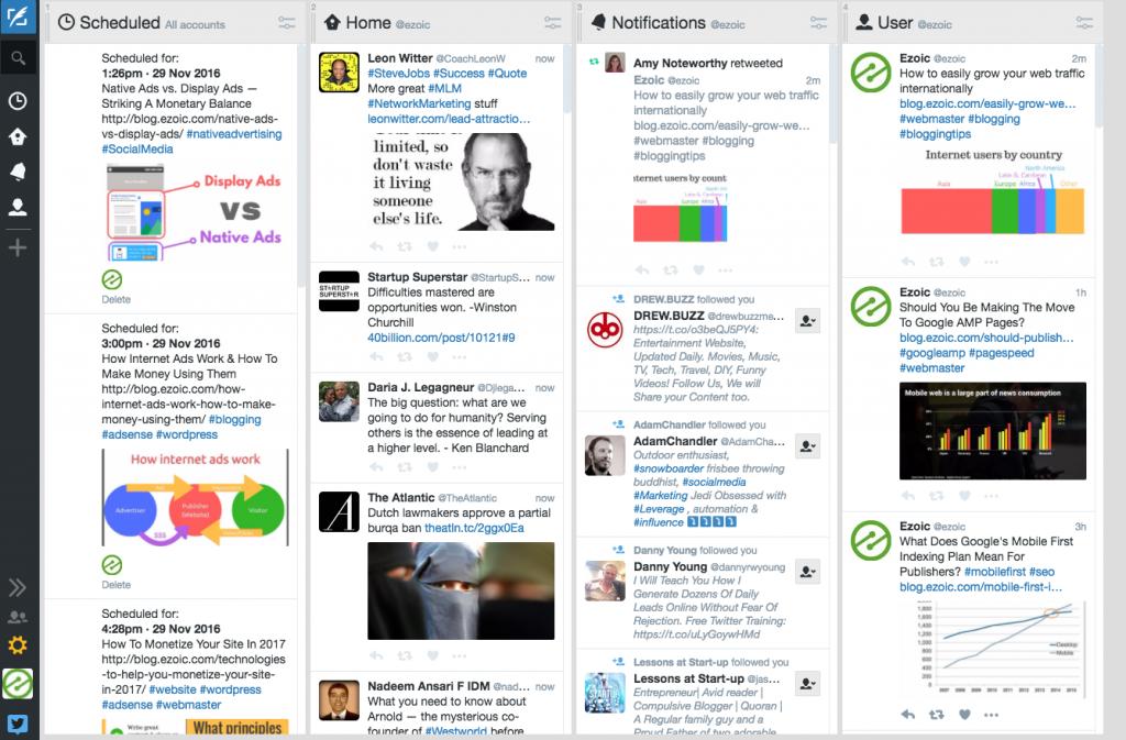 tweetdeck for content sharing
