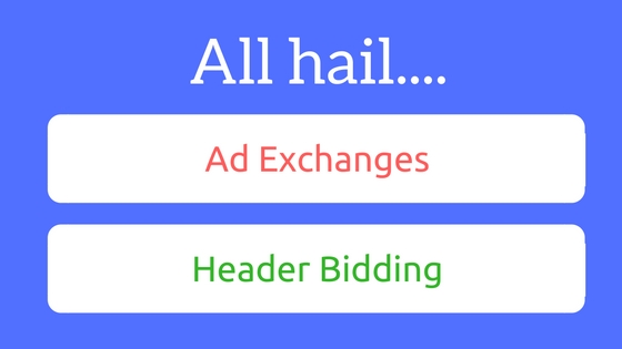 header bidding and ad exchanges