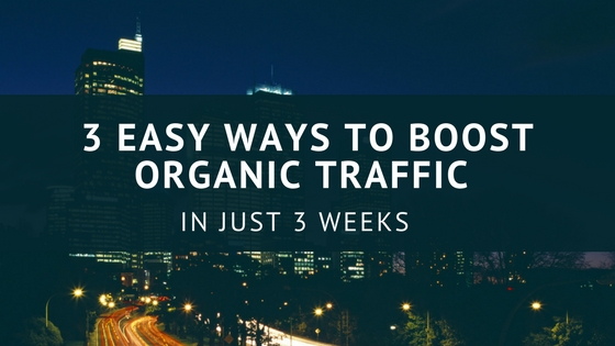 boost organic search traffic