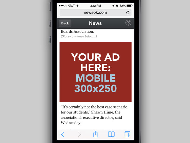 300x250 Ads Allowed Above The Fold on mobile devices