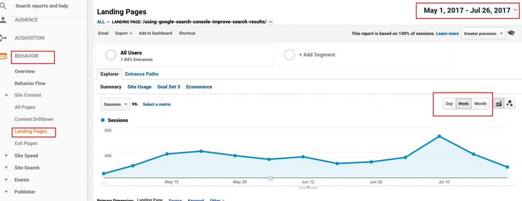 google analytics and web traffic