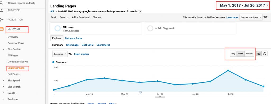 google analytics and web traffic