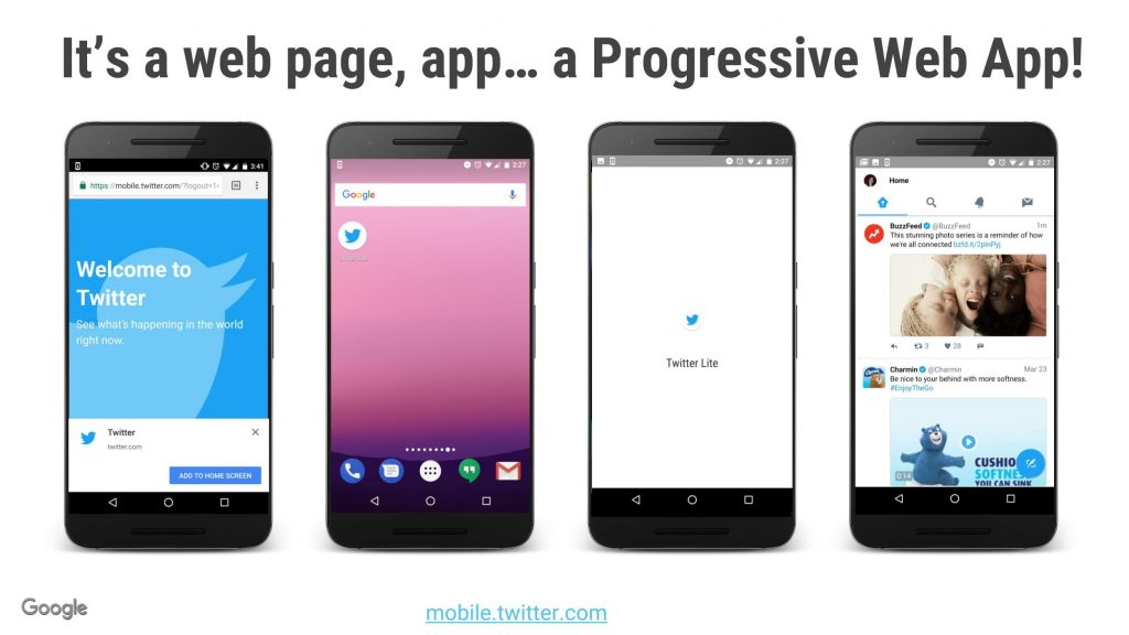 progressive web app search results