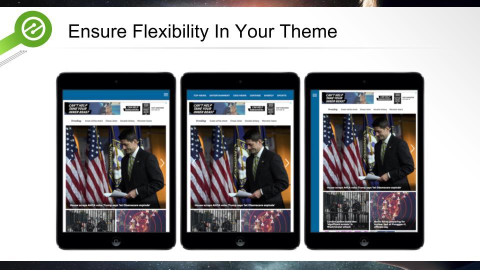 wordpress theme features