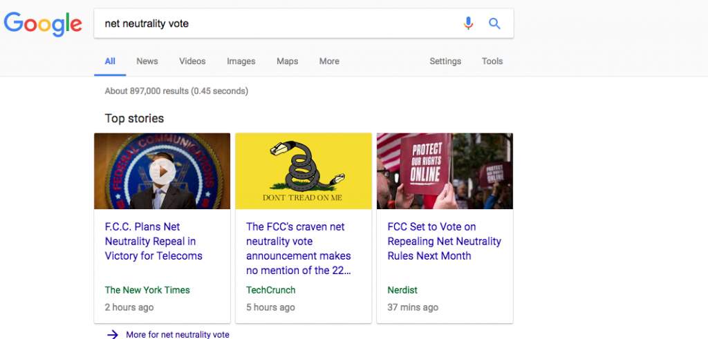 articles in Google carousel