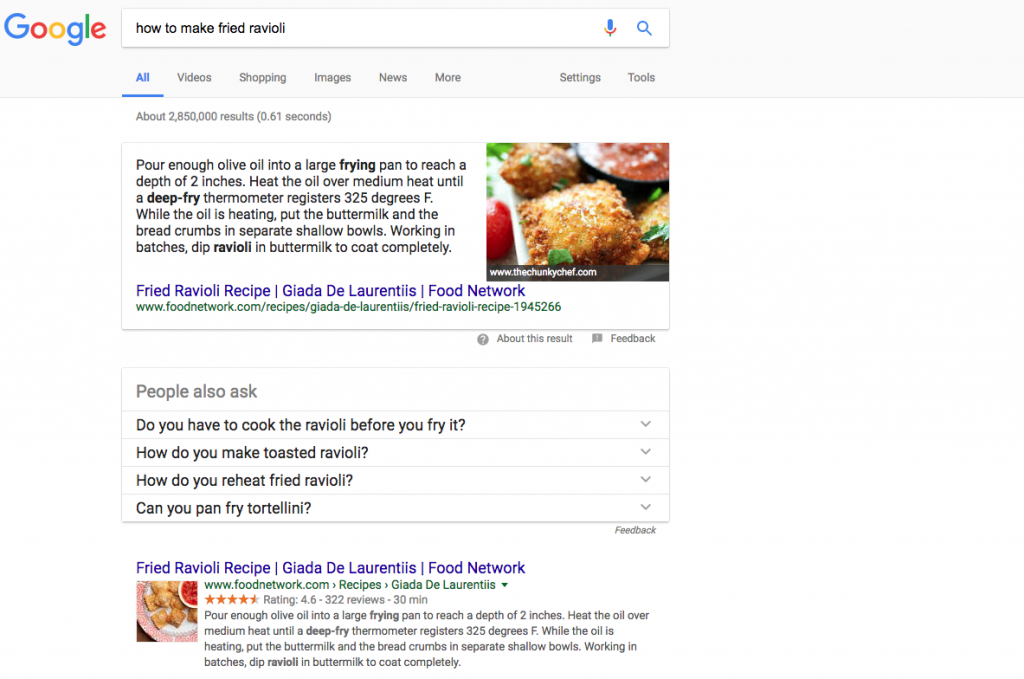rich snippets in search results