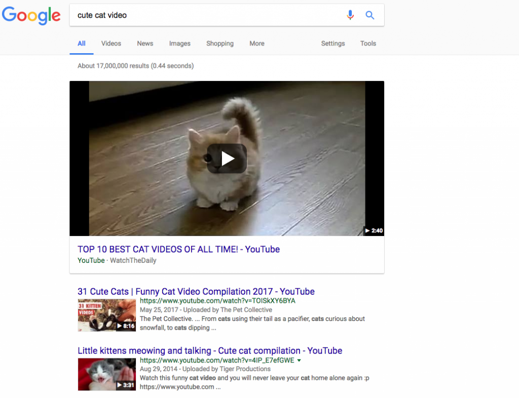 video structured data markup examples