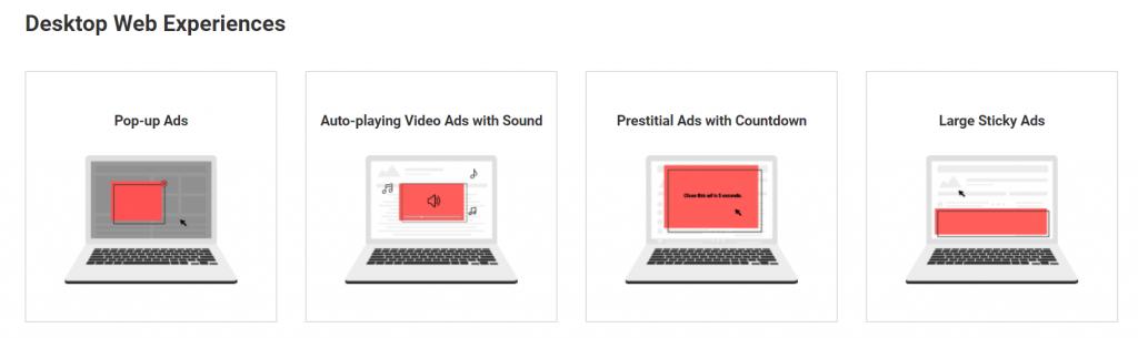 google abusive ad experiences violations fix