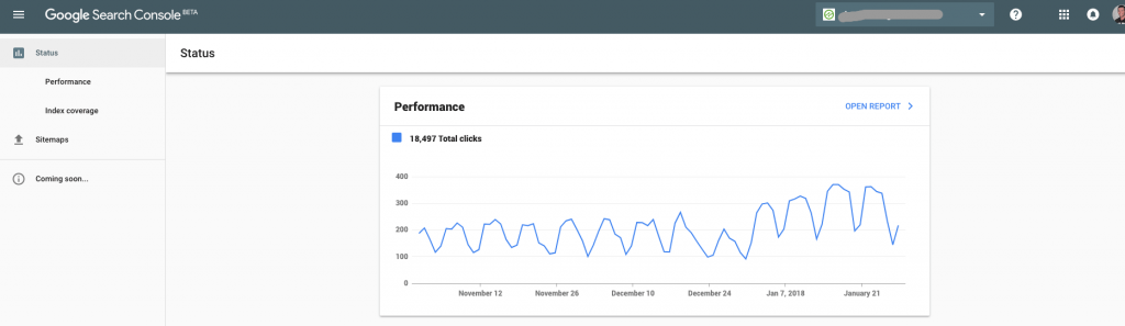 new google search console data