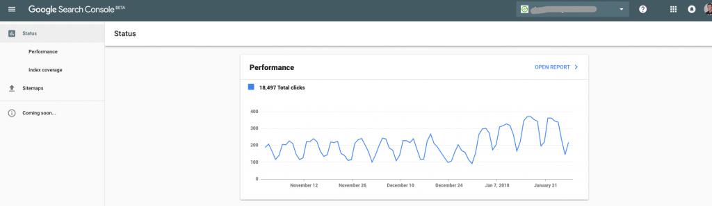 new google search console data