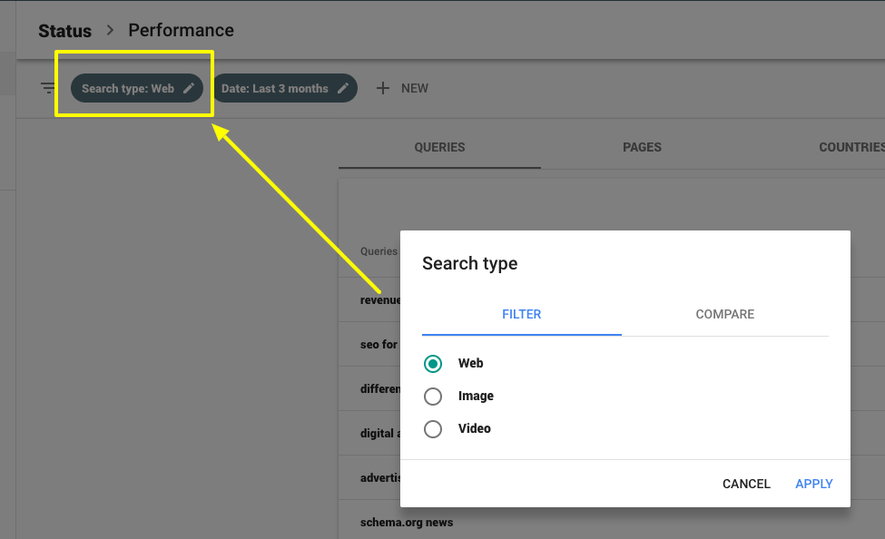 google search console information