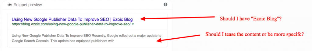 google title tag testing