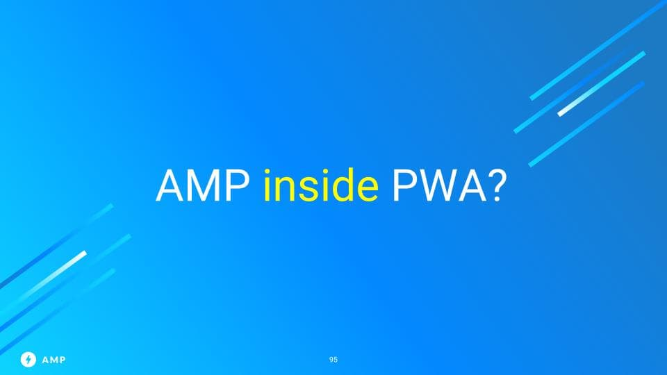 AMP inside of PWA