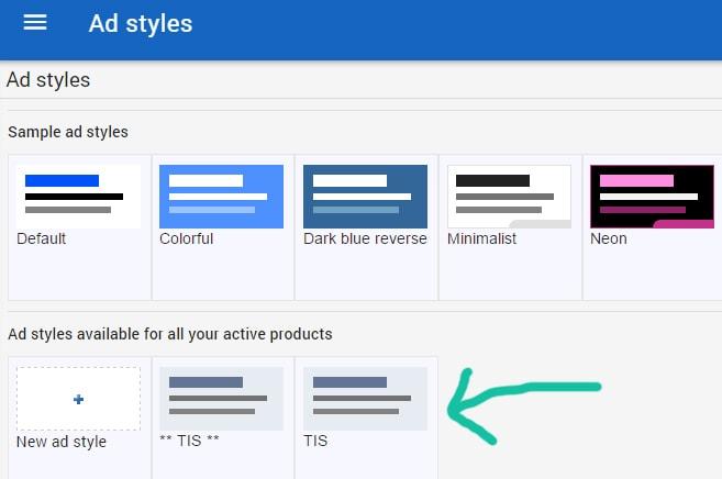 adsense ad styles