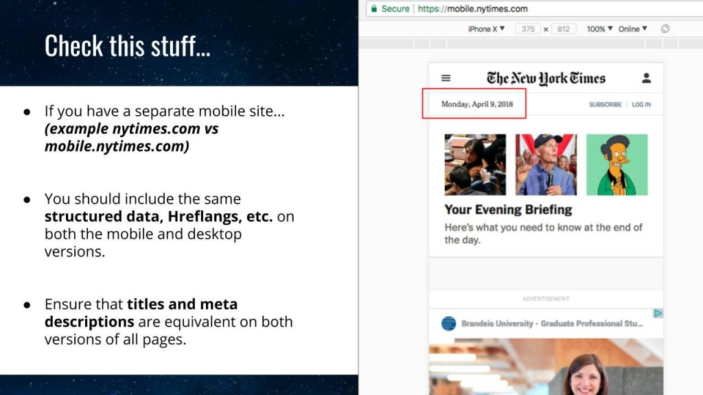 classements mobile Google