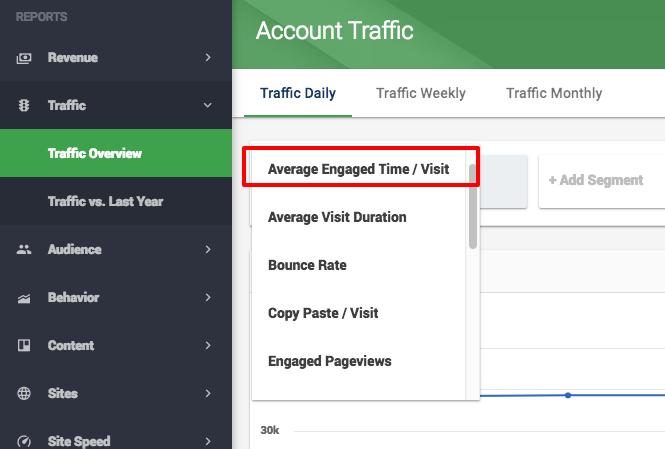 website engagement metrics