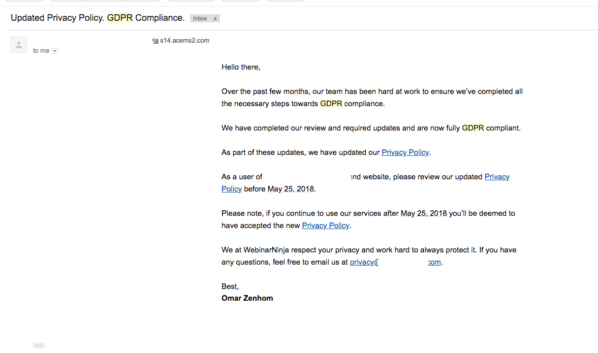 gdpr email
