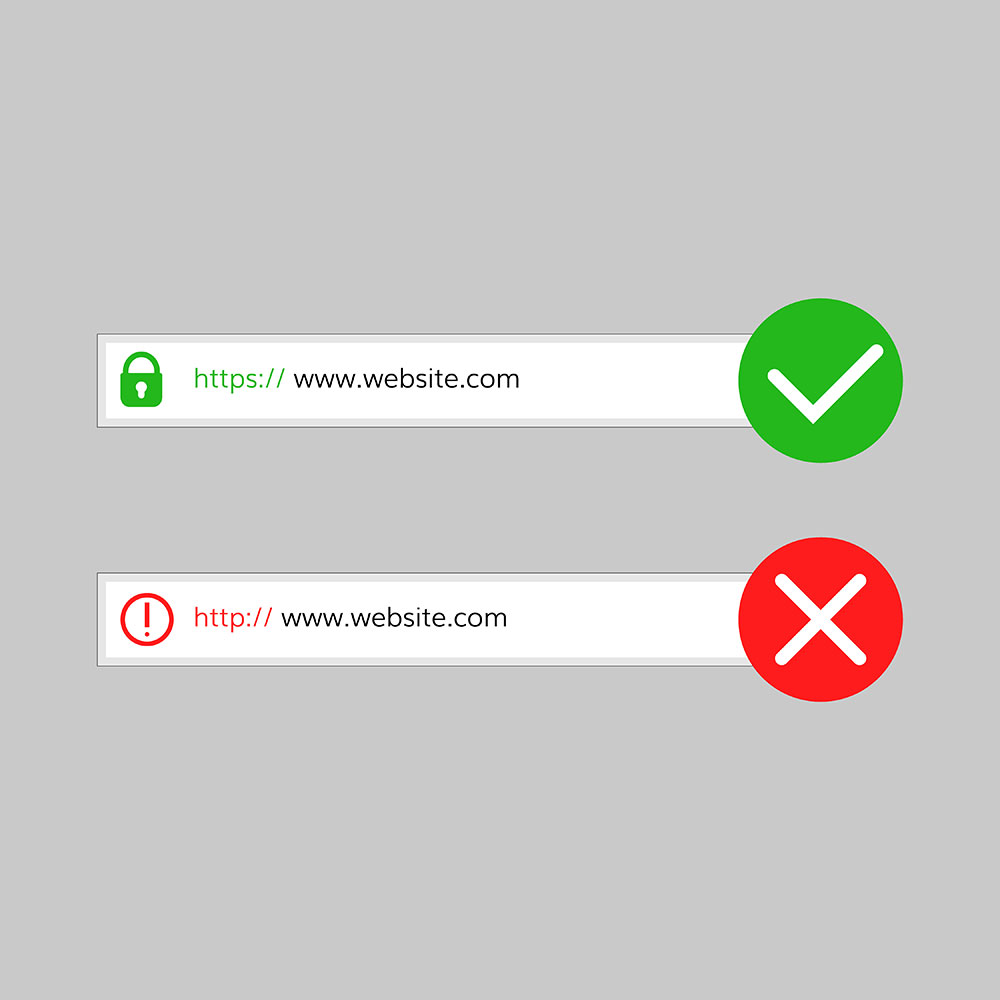 not secure in chrome browsers