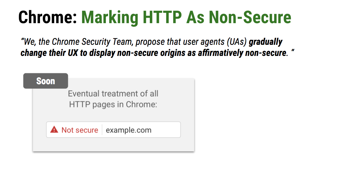 https website Chrome