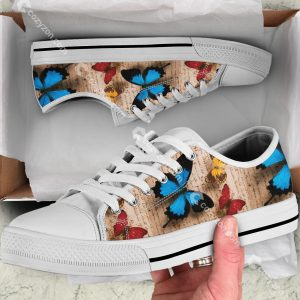 3D Butterflies Low Top Shoes VD14