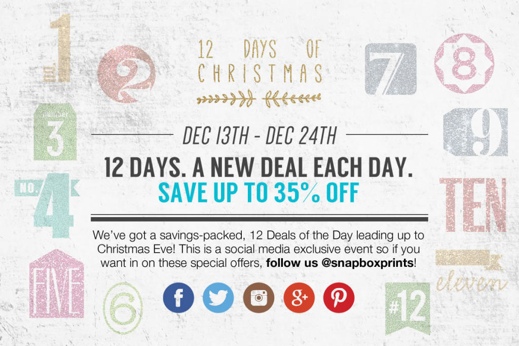 12 Days of Christmas - SnapBox Prints