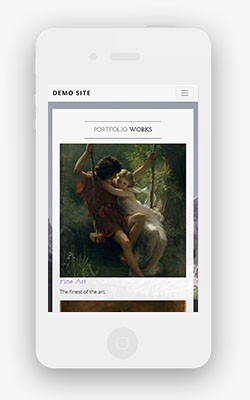artist website template casual