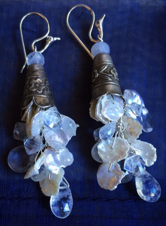 Victorian Silver, Moonstone and Pearls