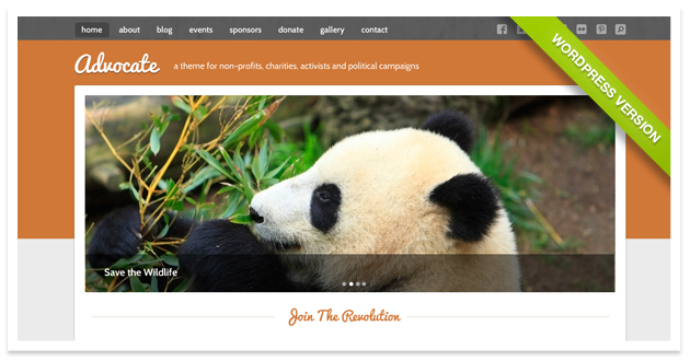 Advocate - A Nonprofit Responsive HTML Template  - 1