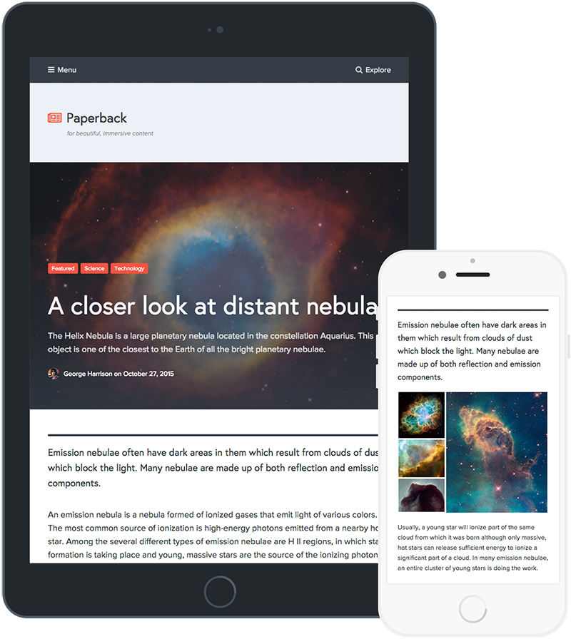 Paperback - Magazine WordPress Theme