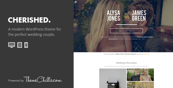 Cherished WordPress Wedding Theme