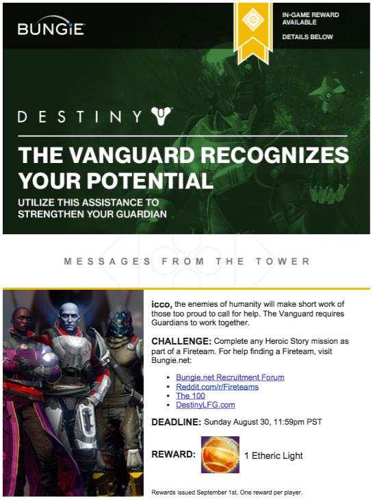 destiny email